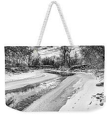 On The Riverbank Bw Weekender Tote Bag