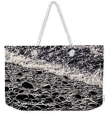 On The Rocks  French Beach Square Weekender Tote Bag by Roxy Hurtubise