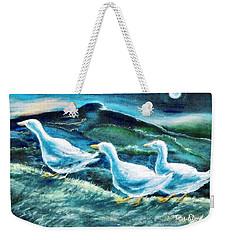 On The Run By Moonlight Weekender Tote Bag