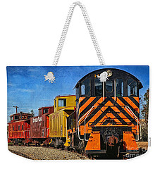 On The Tracks Weekender Tote Bag by Peggy Hughes