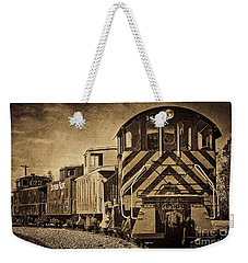 On The Tracks... Take Two. Weekender Tote Bag by Peggy Hughes