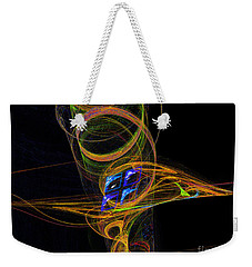 Weekender Tote Bag featuring the digital art On The Way To Oz by Victoria Harrington