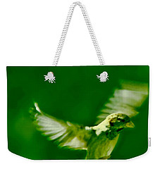 On The Wings Of A Bird Weekender Tote Bag by Carol F Austin