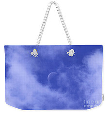 Weekender Tote Bag featuring the photograph Once In A Blue Moon by Judy Whitton