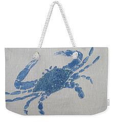 One Blue Crab On Sand Weekender Tote Bag