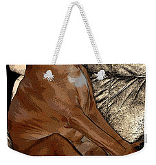 One Cool Dog Weekender Tote Bag by Mim White
