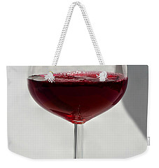 One Glass Of Red Wine With Bottle Shadow Art Prints Weekender Tote Bag