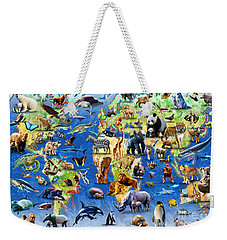 One Hundred Endangered Species Weekender Tote Bag by Adrian Chesterman