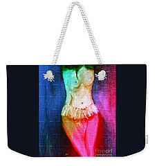 Weekender Tote Bag featuring the digital art First Art Class Picture by Ann Calvo