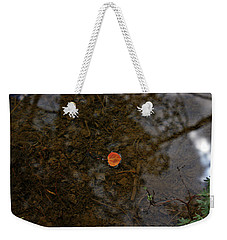 Weekender Tote Bag featuring the photograph One Leaf by Jeremy Rhoades