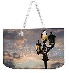 One Light Out - Westminster Bridge Streetlights - River Thames In London Uk Weekender Tote Bag