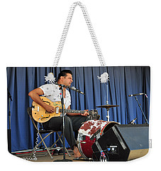 Weekender Tote Bag featuring the photograph One Man Band - Bloodshot Bill by Mike Martin