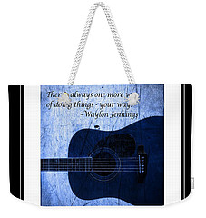 One More Way - Waylon Jennings Weekender Tote Bag