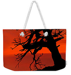 Weekender Tote Bag featuring the photograph One Tree Hill Silhouette by Greg Norrell