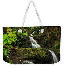 Onomea Falls Weekender Tote Bag by James Eddy