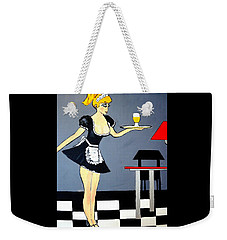 Weekender Tote Bag featuring the painting Ooolala French Maid  by Nora Shepley