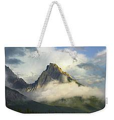 Opal Range In Fog Kananaskis Country Weekender Tote Bag