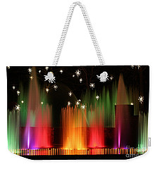 Open Air Theatre Rainbow Fountain Weekender Tote Bag