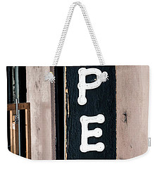 Weekender Tote Bag featuring the photograph Open For Business by Sennie Pierson