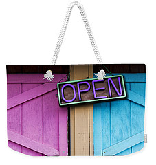 Weekender Tote Bag featuring the photograph Open by Paul Wear