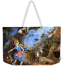 Weekender Tote Bag featuring the painting Open Sesame by Reynold Jay