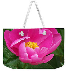 Weekender Tote Bag featuring the photograph Peony  by Eunice Miller