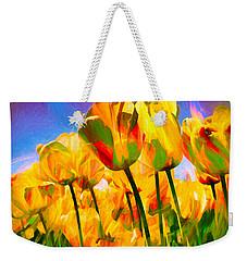 Weekender Tote Bag featuring the digital art Optimism by Pennie  McCracken