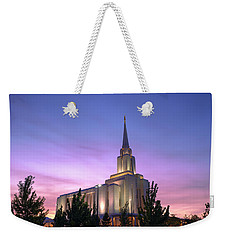 Oquirrh Mountain Temple Iv Weekender Tote Bag by Chad Dutson