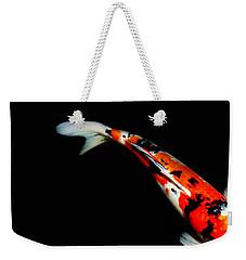 Orange And Black Koi Weekender Tote Bag