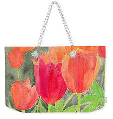 Orange And Red Tulips Weekender Tote Bag