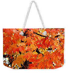 Orange And Reds And Some Yellow Too Weekender Tote Bag