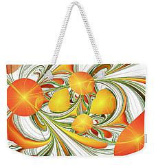 Orange Attitude Weekender Tote Bag