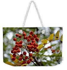 Orange Autumn Berries Weekender Tote Bag