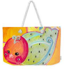 Orange Birdy Weekender Tote Bag