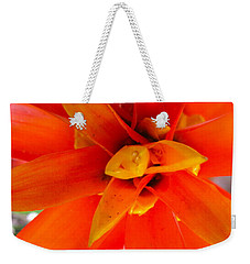 Orange Bromeliad Weekender Tote Bag