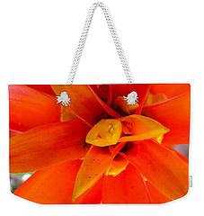 Orange Bromeliad Weekender Tote Bag by Lehua Pekelo-Stearns