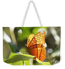 Orange Butterfly Weekender Tote Bag by Jola Martysz