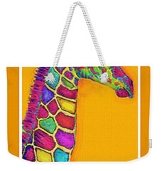 Orange Carosel Giraffe Weekender Tote Bag by Jane Schnetlage