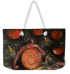 Orange Clover Christmas Weekender Tote Bag