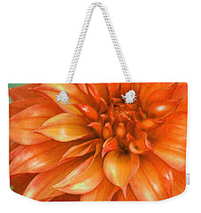 Orange Dahlia Weekender Tote Bag by Jane Schnetlage