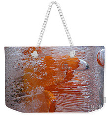 Orange Flower Weekender Tote Bag