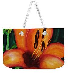 Beautiful Lily Flower Weekender Tote Bag