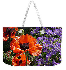 Weekender Tote Bag featuring the photograph Orange Flowers by Alan Socolik