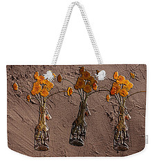 Orange Flowers Embedded In Adobe Weekender Tote Bag