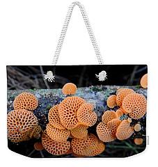 Orange Fungus Weekender Tote Bag by Pamela Walton