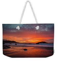 Orange Glow Weekender Tote Bag