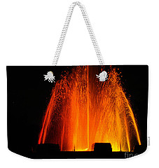 Weekender Tote Bag featuring the photograph Orange Lava by Clayton Bruster