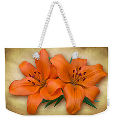 Orange Lily Weekender Tote Bag by Jane McIlroy