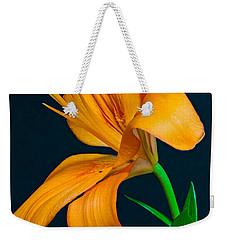 Orange Lily Profile Weekender Tote Bag