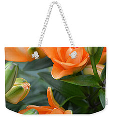 Orange Lily Weekender Tote Bag by Tine Nordbred